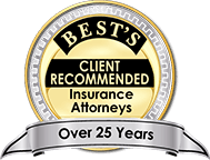 Best's Client Recommended Insurance Attorneys for Over 25 years logo